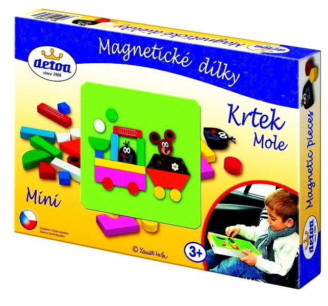 Magnetické puzzle - krteček