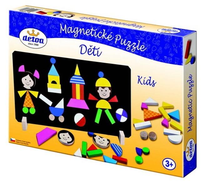 Magnetické puzzle s dětmi