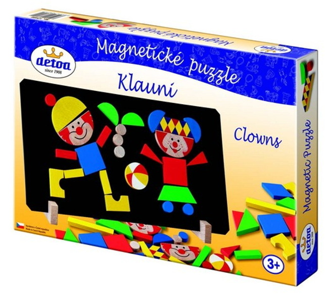Magnetické puzzle s klauny